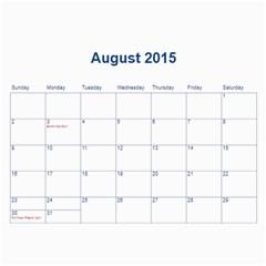 2015 Bps Cal By Bonita   Wall Calendar 11  X 8 5  (12 Months)   Jucngf4osouj   Www Artscow Com Aug 2015