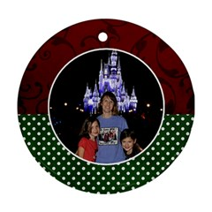 Michelle By Michelle Loomis   Round Ornament (two Sides)   Jdl7w8adudwe   Www Artscow Com Back