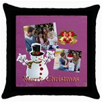 xmas, Christmas gift  - Throw Pillow Case (Black)