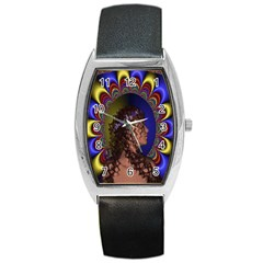 New Romantic Tonneau Leather Watch by icarusismartdesigns