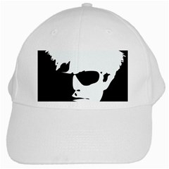 Warhol White Baseball Cap by icarusismartdesigns