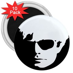 Warhol 3  Button Magnet (10 Pack) by icarusismartdesigns