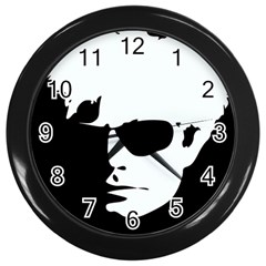 Warhol Wall Clock (black) by icarusismartdesigns
