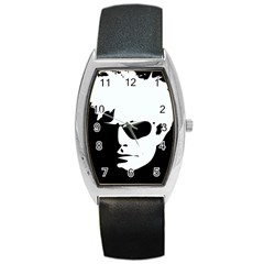 Warhol Tonneau Leather Watch by icarusismartdesigns