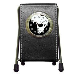 Warhol Stationery Holder Clock by icarusismartdesigns