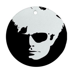 Warhol Round Ornament (two Sides) by icarusismartdesigns