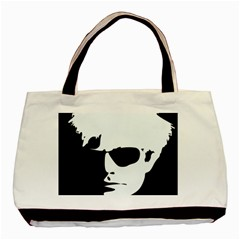 Warhol Twin Sided Black Tote Bag by icarusismartdesigns