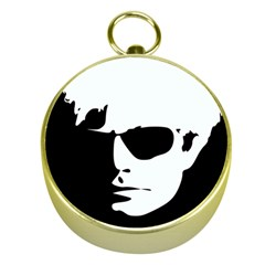 Warhol Gold Compass by icarusismartdesigns