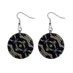 Fancy Ornament Print Mini Button Earrings