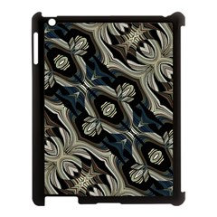 Fancy Ornament Print Apple iPad 3/4 Case (Black) by dflcprints
