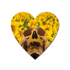 Sunflowers Magnet (heart) by icarusismartdesigns