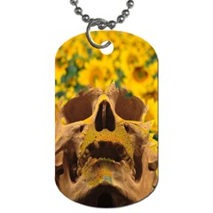 Sunflowers Dog Tag (two Sided)  by icarusismartdesigns