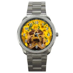 Sunflowers Sport Metal Watch by icarusismartdesigns