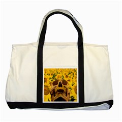 Sunflowers Two Toned Tote Bag by icarusismartdesigns