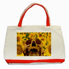 Sunflowers Classic Tote Bag (red) by icarusismartdesigns