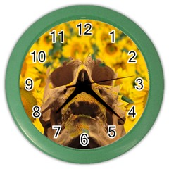 Sunflowers Wall Clock (color) by icarusismartdesigns