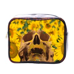 Sunflowers Mini Travel Toiletry Bag (one Side) by icarusismartdesigns