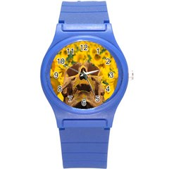 Sunflowers Plastic Sport Watch (small) by icarusismartdesigns