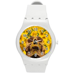 Sunflowers Plastic Sport Watch (medium) by icarusismartdesigns
