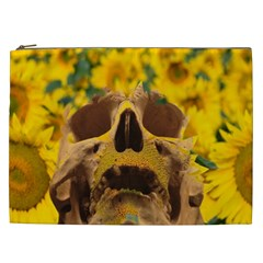 Sunflowers Cosmetic Bag (xxl) by icarusismartdesigns