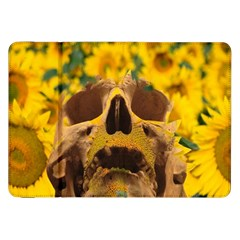 Sunflowers Samsung Galaxy Tab 8 9  P7300 Flip Case by icarusismartdesigns