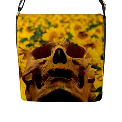 Sunflowers Flap Closure Messenger Bag (large) by icarusismartdesigns