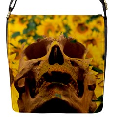 Sunflowers Flap Closure Messenger Bag (small) by icarusismartdesigns
