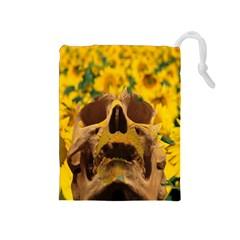 Sunflowers Drawstring Pouch (medium) by icarusismartdesigns
