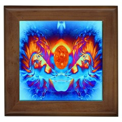 Escape From The Sun Framed Ceramic Tile by icarusismartdesigns