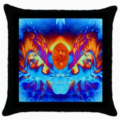 Escape From The Sun Black Throw Pillow Case by icarusismartdesigns