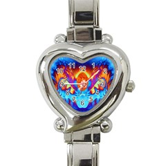 Escape From The Sun Heart Italian Charm Watch  by icarusismartdesigns