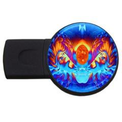 Escape From The Sun 4GB USB Flash Drive (Round) by icarusismartdesigns
