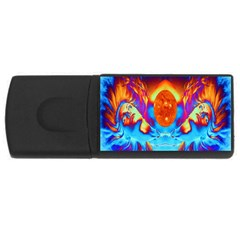 Escape From The Sun 4gb Usb Flash Drive (rectangle) by icarusismartdesigns