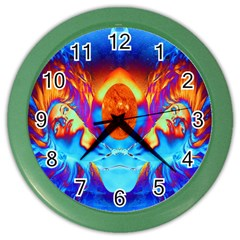 Escape From The Sun Wall Clock (color) by icarusismartdesigns