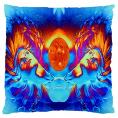 Escape From The Sun Large Cushion Case (two Sided)  by icarusismartdesigns