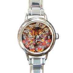 Abstract 4 Round Italian Charm Watch by icarusismartdesigns