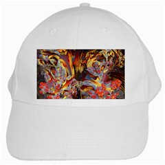 Abstract 4 White Baseball Cap by icarusismartdesigns