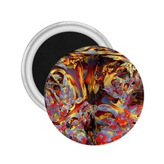 Abstract 4 2 25  Button Magnet by icarusismartdesigns