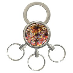 Abstract 4 3 Ring Key Chain by icarusismartdesigns