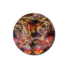 Abstract 4 Drink Coaster (round) by icarusismartdesigns