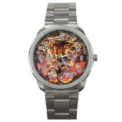 Abstract 4 Sport Metal Watch by icarusismartdesigns