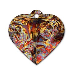 Abstract 4 Dog Tag Heart (two Sided) by icarusismartdesigns