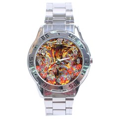 Abstract 4 Stainless Steel Watch by icarusismartdesigns