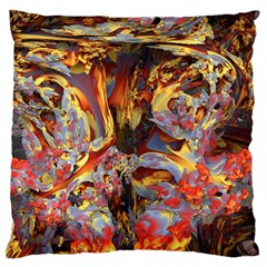 Abstract 4 Large Cushion Case (single Sided)  by icarusismartdesigns