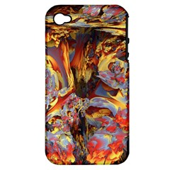 Abstract 4 Apple Iphone 4/4s Hardshell Case (pc+silicone) by icarusismartdesigns