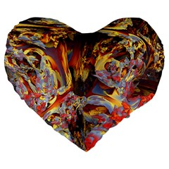 Abstract 4 19  Premium Heart Shape Cushion by icarusismartdesigns