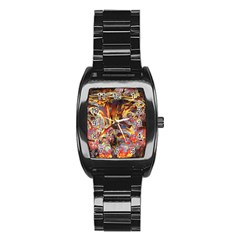 Abstract 4 Stainless Steel Barrel Watch by icarusismartdesigns