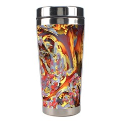 Abstract 4 Stainless Steel Travel Tumbler by icarusismartdesigns