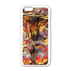 Abstract 4 Apple Iphone 6 White Enamel Case by icarusismartdesigns