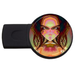 Cat Woman 2gb Usb Flash Drive (round) by icarusismartdesigns